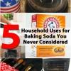 5 de Hogares Usos de bicarbonato de sodio que usted nunca Considerado