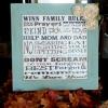 Reglas Hermosa DIY Familia Placa - Gran idea de regalo