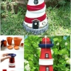 DIY encantadoramente Náutico decoración del jardín: Clay Faro Pot