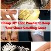 Barato DIY Pie Polvo para mantener sus zapatos Oler Gran
