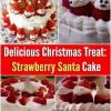 Tratar Deliciosa Navidad: Fresa de Santa Cake