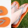 DIY flip-flop - mirada de moda con estos trenzada Correa Chanclas