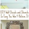 Bricolaje Adhesivos de pared y plantillas tan fácil que no lo vas a creer