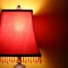 Tela y cuentas pantallas de lámparas