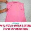 Calcule su colada más rápido por Aprender a doblar una camisa en sólo 2 segundos!