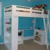 Dar de su adolescente habitación una cirugía estética con este impresionante DIY Loft Cama