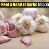 Gran Cocina Tip - Cómo pelar una cabeza de ajo en 5 segundos