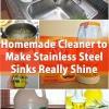 Limpiador casero para fabricar acero inoxidable Fregaderos Realmente Shine