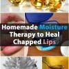Hecho en casa Humedad terapia para curar los labios agrietados