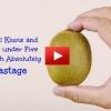 Cómo Pelar los kiwis y mangos en menos de cinco segundos sin ningún tipo de desperdicio