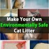 Enorme Money Saver - Haga su propia arena para gatos Ambientalmente seguro