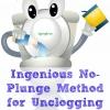 Ingenioso Método No-Plunge para destapar el inodoro
