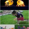 Artesanía Niños: Gire los huevos de plástico vacía en las luciérnagas de luz-en ningún momento