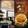 Precioso DIY del aro de Hula de la lámpara