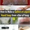 Ahorrar dinero DIY - Hacer un Galón de jabón líquido para manos de una barra de jabón