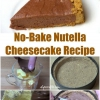 Fuera de este mundo Postre Receta: Luscious No-Bake Nutella pastel de queso