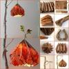 Rústico Proyecto DIY: llamativa lámpara colgante hecha de papel reutilizado Bolsas