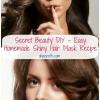 Secreto DIY Belleza - Fácil casera brillante pelo Máscara Receta