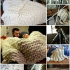 Entérese cómo tejía esta manta gigante acogedor con tubos de PVC