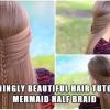 Increíblemente hermoso Tutorial del pelo: Mermaid mitad Braid