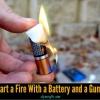 Supervivencia Vida-Hack: Cómo iniciar un fuego con una batería y un envoltorio de chicle