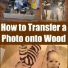 Mezcle los marcos Boring: Cómo transferir una foto en Madera