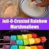 Prueba este convite dulce Rápido y Fácil: Jell-O-Crusted Rainbow melcochas
