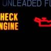 ¿Qué generalmente significa la luz del motor del cheque?