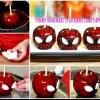 Manzanas de caramelo deliciosa hecha en casa de Spider-Man Sus hijos les encantará