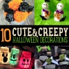 10 DIY decoraciones de Halloween | Decoración Cute & Creepy