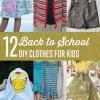 12 Regreso a Clases Ropa DIY usted puede hacer para Niños