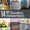 14 de bricolaje de muebles Estarcir Proyectos