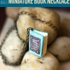 Collar Miniatura libro | Pendientes