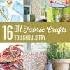 16 DIY tela Artesanía