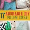 17 Ideas adorable DIY almohada
