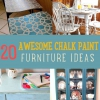 20 Increíbles ideas de muebles pintura de tiza