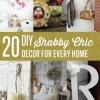 20 de bricolaje Ideas Shabby Chic Decoración