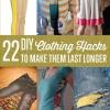 22 Hacks de bricolaje para hacer su ropa dure más