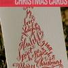 22 hecho a mano de la caligrafía de Navidad Tarjetas | Tarjetas de Navidad DIY