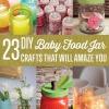 23 Clever DIY Usos del bebé Alimentación Tarros