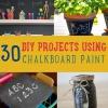 30 DIY pintura pizarra Proyectos