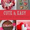 Decoraciones lindas y fáciles de San Valentín