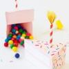 DIY caja de torta de cumpleaños
