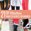 Ropa de bricolaje | Pantalones y faldas para mujeres