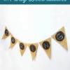 Bricolaje País boda Oficios Ideas: arpillera y pizarra pintan Banner