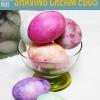 Bricolaje Pascua Proyectos de huevo con crema de afeitar (Sí!)