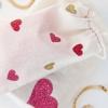 DIY Bolsas Corazón Glitter