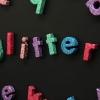 Bricolaje Glitter Letter Imanes