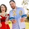 Día de apoyos de la foto de DIY Glitter San Valentín