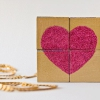 DIY Glittery Bloque Puzzle de San Valentín